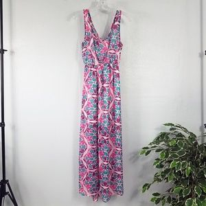 Charlotte Russe Tie Back Maxi Sun Dress